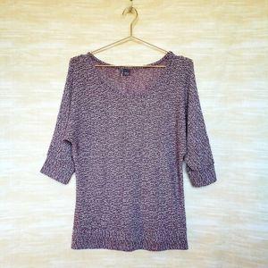 Sparkle&Fade M purple 3/4 dolman sleeve sweater